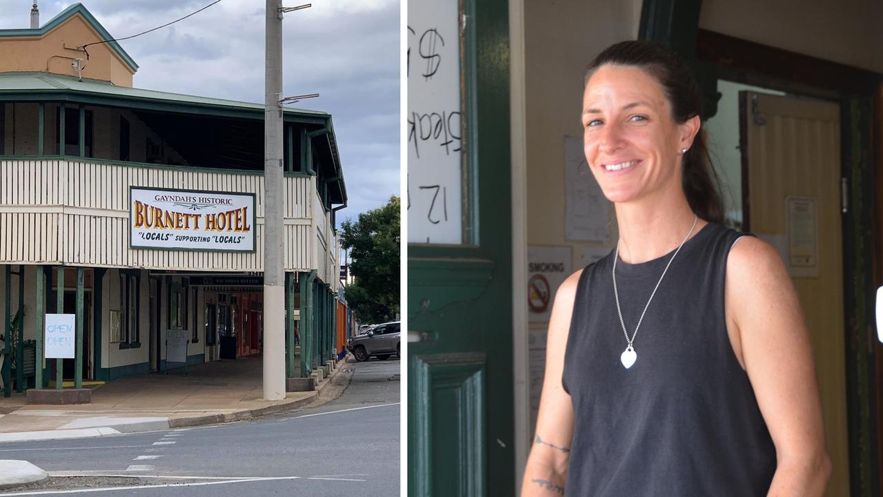 IT'S OFFICIAL: The Burnett Hotel in Gayndah has been officially bought by its newest publican Nichole Scott. Picture: Sam Turner