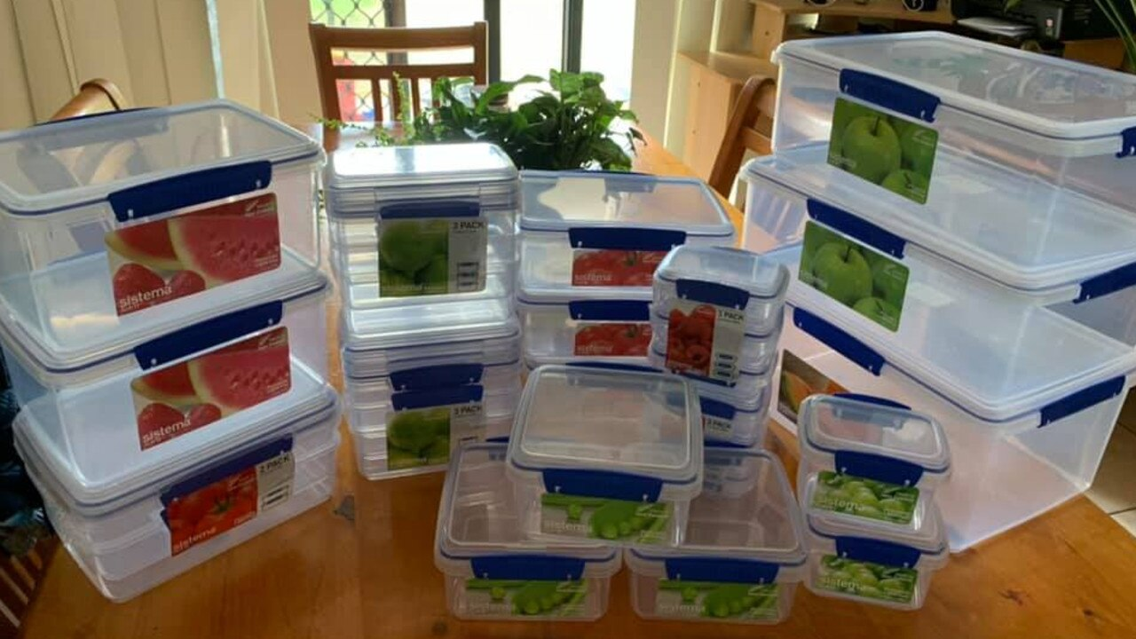 Others also shared their huge savings online with another shopper saving $112.50 on the above containers. Picture: Facebook/MarkdownAddictsAustralia
