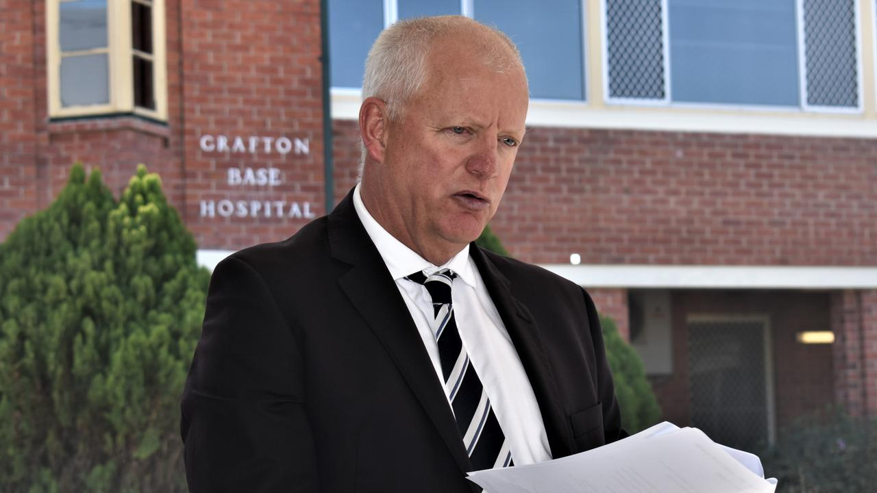 Northern NSW Local Health District chief executive Wayne Jones speaks at the official opening of the $17.5 million Grafton Base Hospital Ambulatory Care Centre on Thursday, 13th August, 2020.