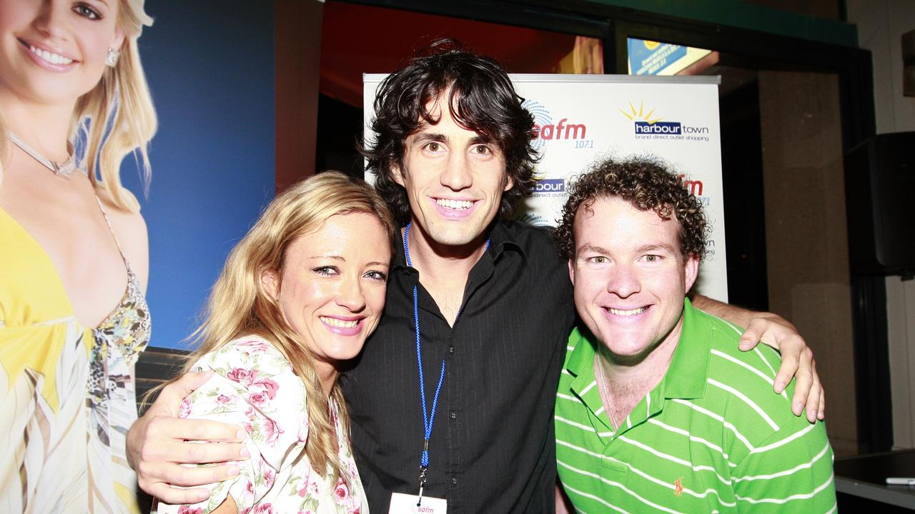 Amber Petty with Andy Lee and Andrew 'Cosi' Costello.