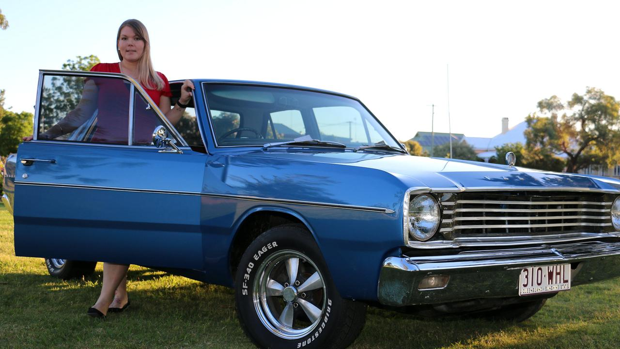 PROJECT OF LOVE: Amy Keirnan with the renovated VE Valiant.