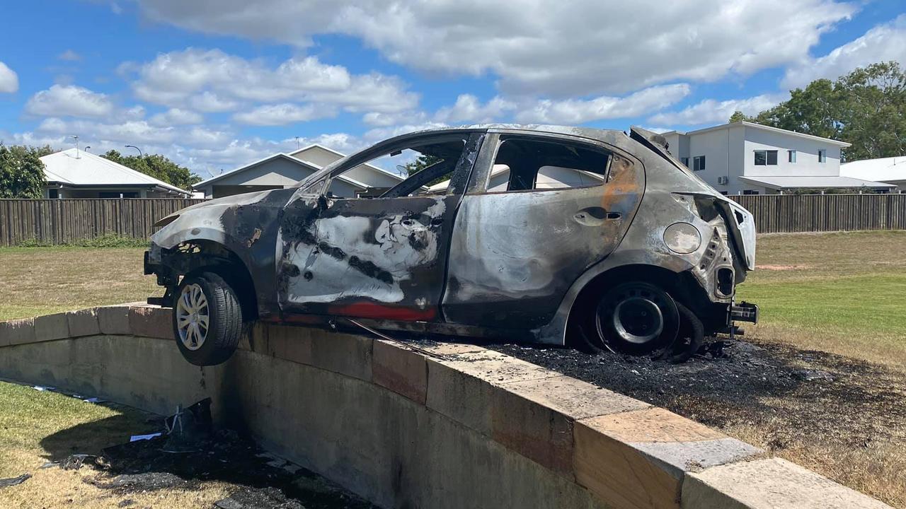 Shae Tucker's stolen car which was set alight in Idalia.