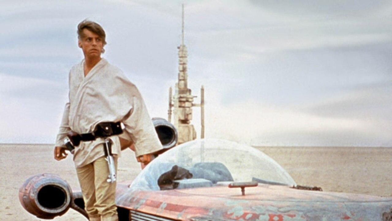 Star Wars – Episode IV A New Hope. Actor Mark Hamill as Luke Skywalker in a 1977 movie still. Pic