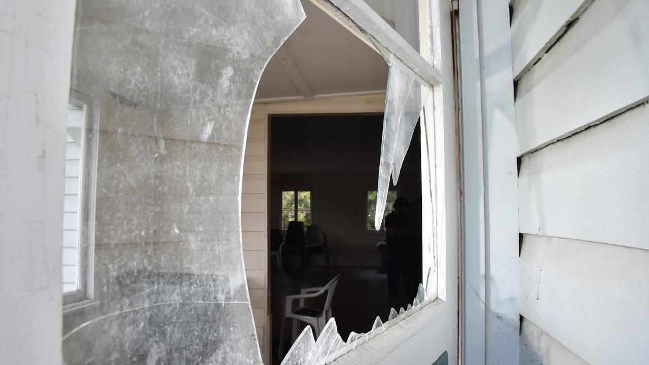 SMASHED: Troy Eric Michels faced Chinchilla Magistrates court on Thursday pleading guilty to two charges; wilful damage to property, and driving unlicensed. Pic: Bev Lacey