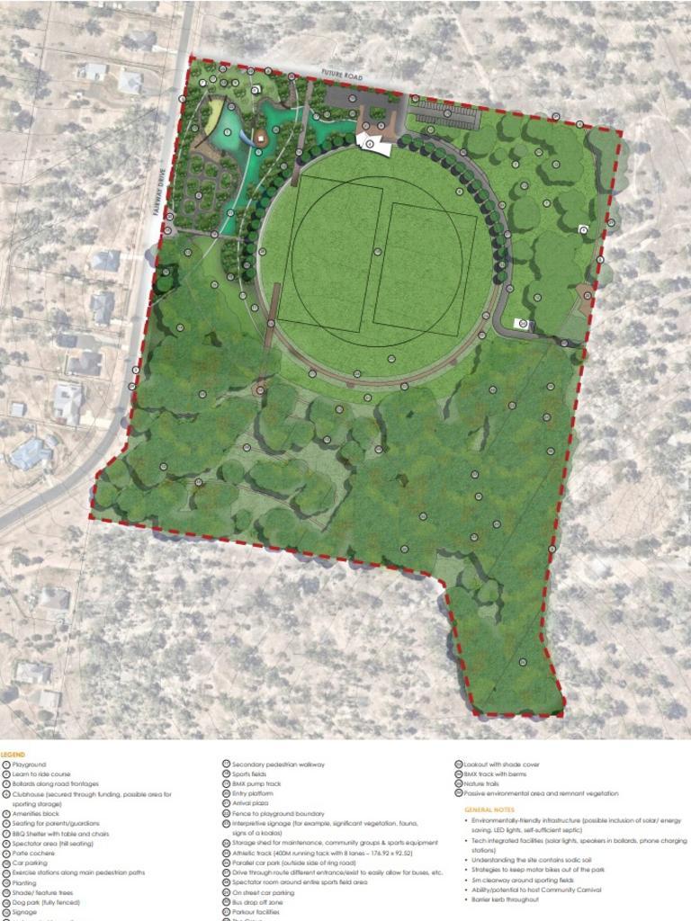 Map of the Lockyer Valley regional playground at Hatton Vale.