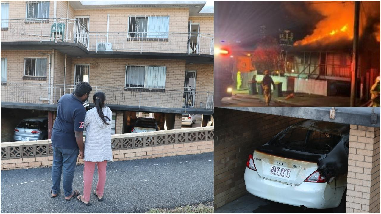 Three suspicious fires cause damage to homes, cars in Highgate Hill