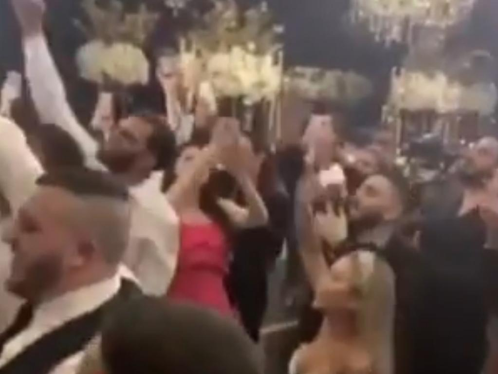 Dozens of people allegedly attended a wedding in western Sydney without any form of social distancing in place. Picture: Sunrise