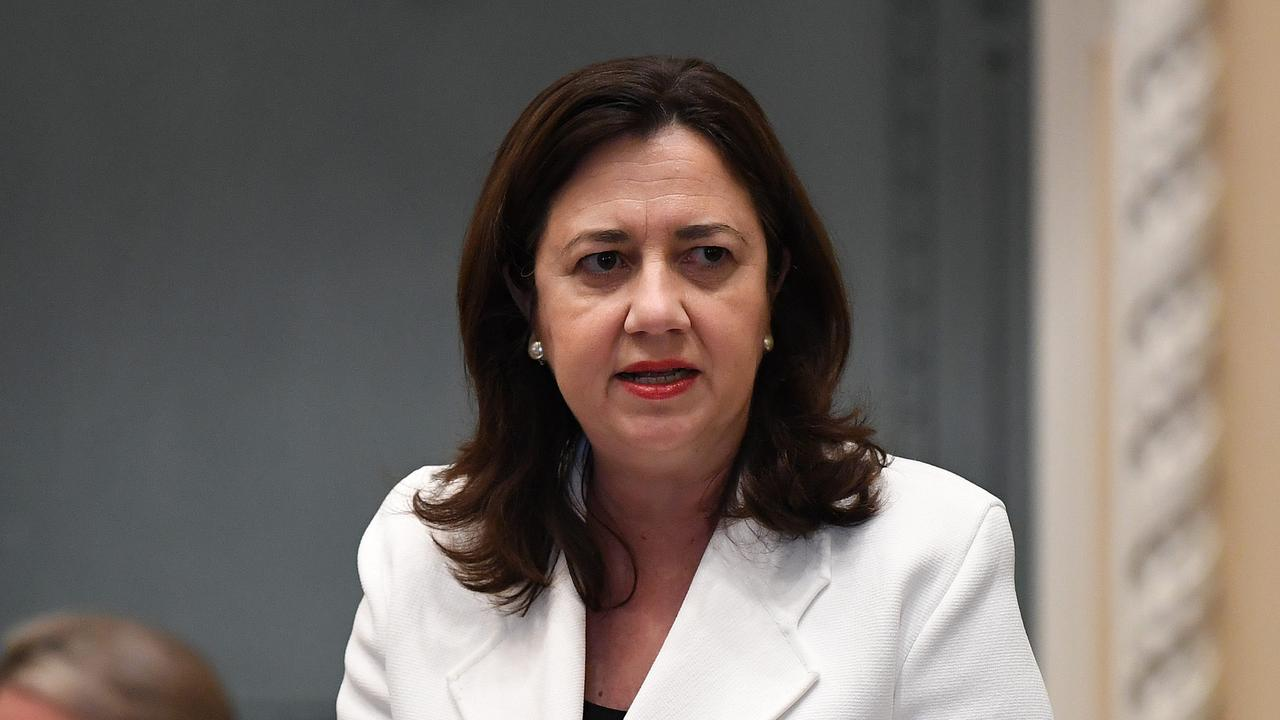 Queensland Premier Annastacia Palaszczuk speaks during Question Time at Parliament House in Brisbane. Picture: NCA NewsWire/Dan Peled