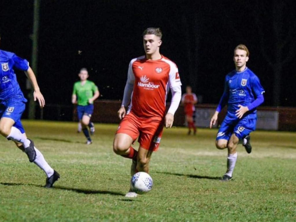 Nambour Yandina United striker Jacob Fulluck scored a five minute hat-trick at the weekend against Noosa.