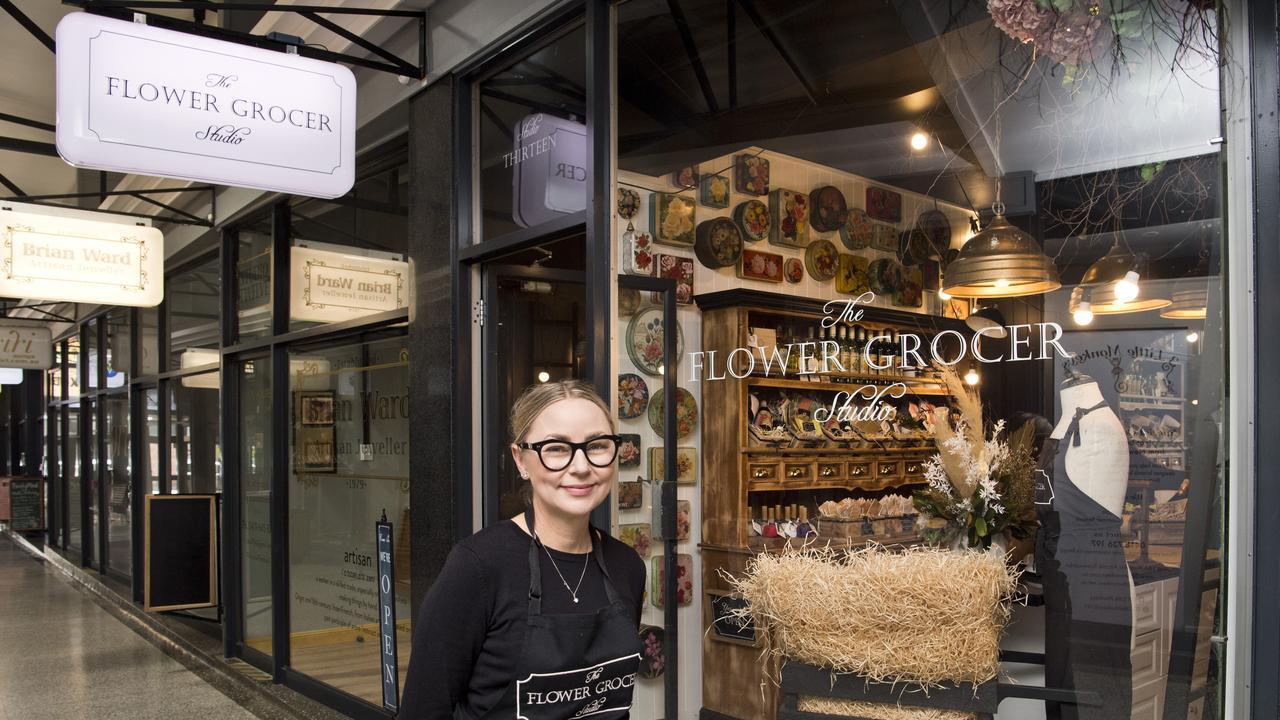 Cherie Zimmerle owns The Flower Grocer in Australia Arcade.