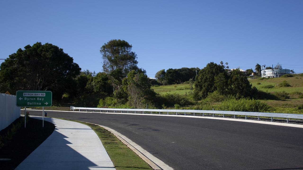 The Hutley Drive extension and roundabout.