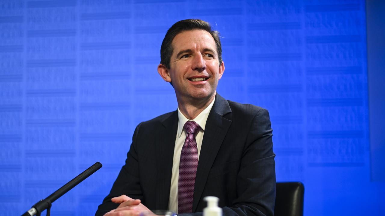 Tourism Minister Simon Birmingham. Picture: AAP Image/Lukas Coch