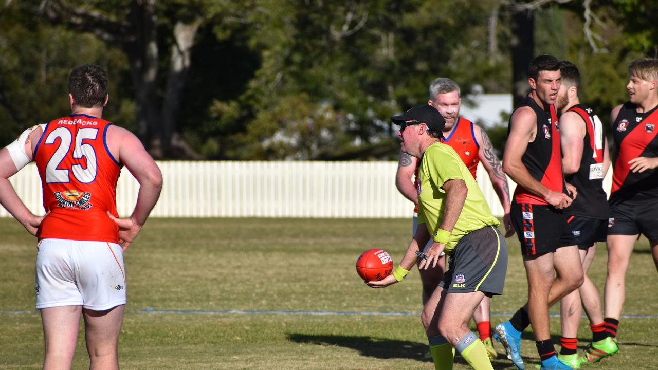 LIVING HIS PASSION: Umpire Mal Pasfield is in his 40th season as an umpire with AFL Darling Downs. Photo: AFL Queensland