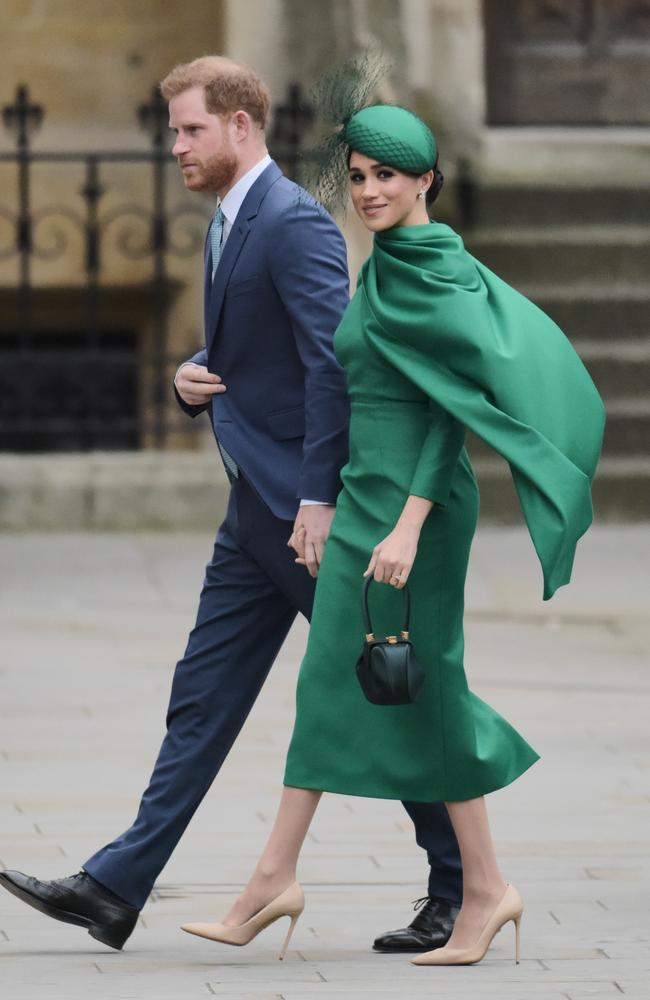 The couple attended the 2020 Commonwealth Day Service at Westminster Abbey on March 9. Picture: Gareth Cattermole/Getty Images