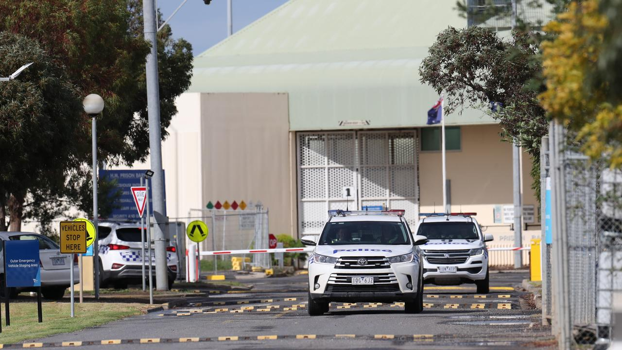 A man is fighting for life after he was stabbed several times in a shocking attack inside a maximum security prison.