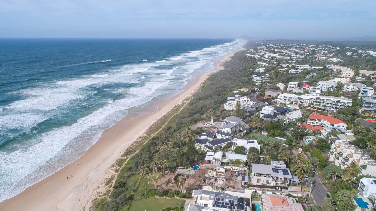 A man was allegedly seen taking photos of children at Sunshine Beach on Thursday.