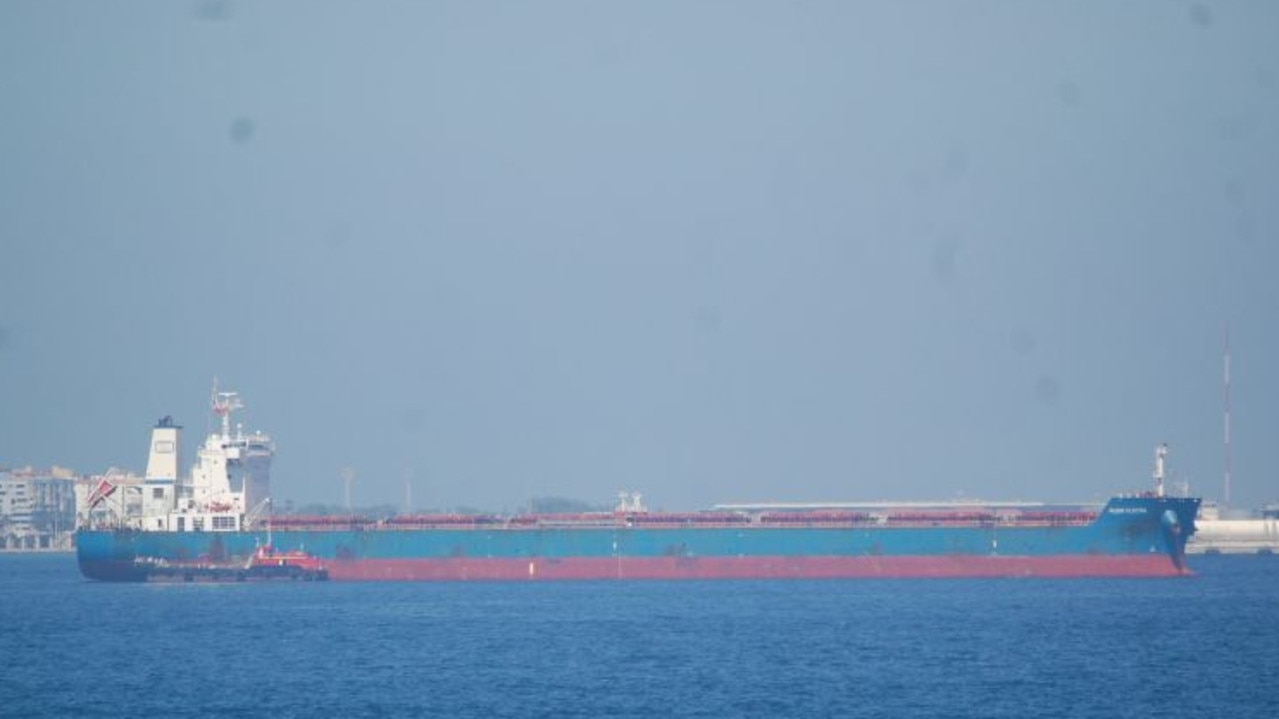 Bulk carrier, Globe Electra is carrying two crew members who tested positive to COVID-19.
