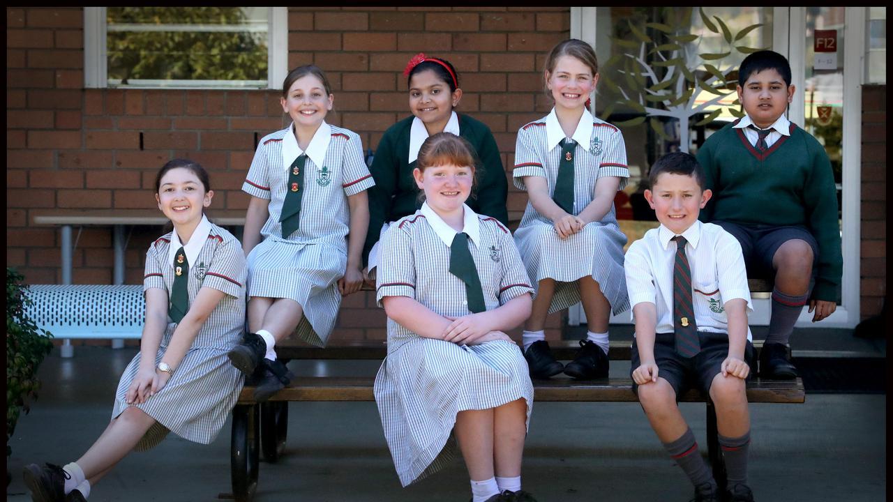 Saint Paul's pupils (top left to right) Kimberley Boag-Hodgson, Neha Bhat, Emma Jackson, Arif Islam, (bottom row) Senna Nowlan, Hils Baldwin and Charlie White. Picture: Jamie Hanson