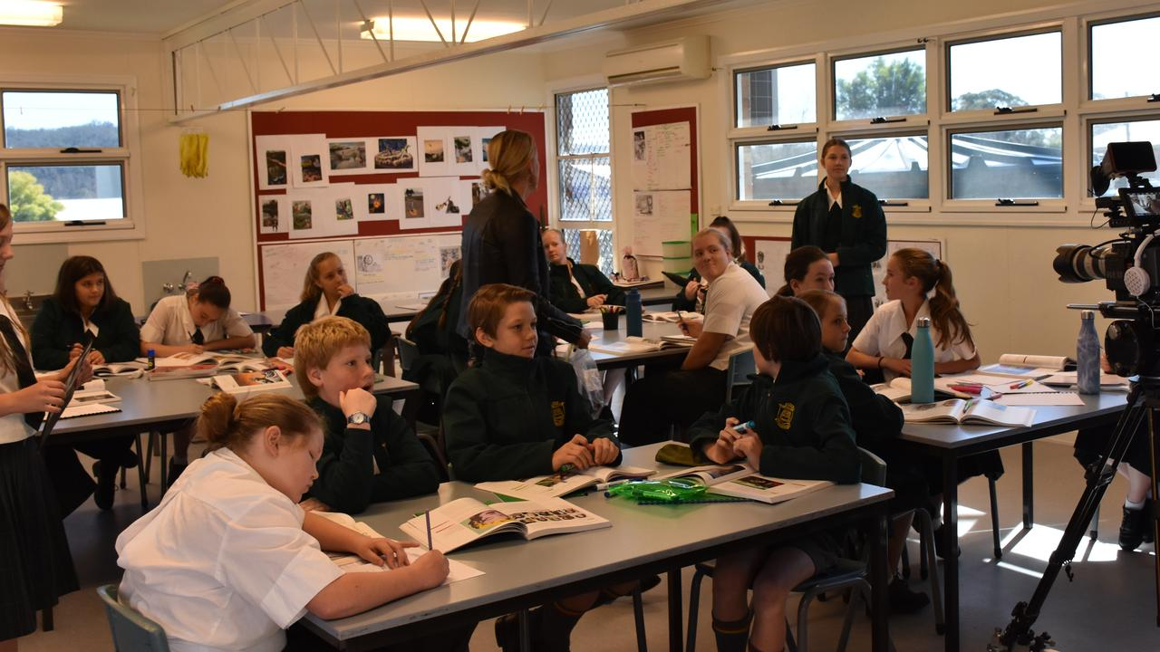 Students were encouraged to come up with their own lines in the short film, which will be featured in a permanent exhibit in Maryborough.