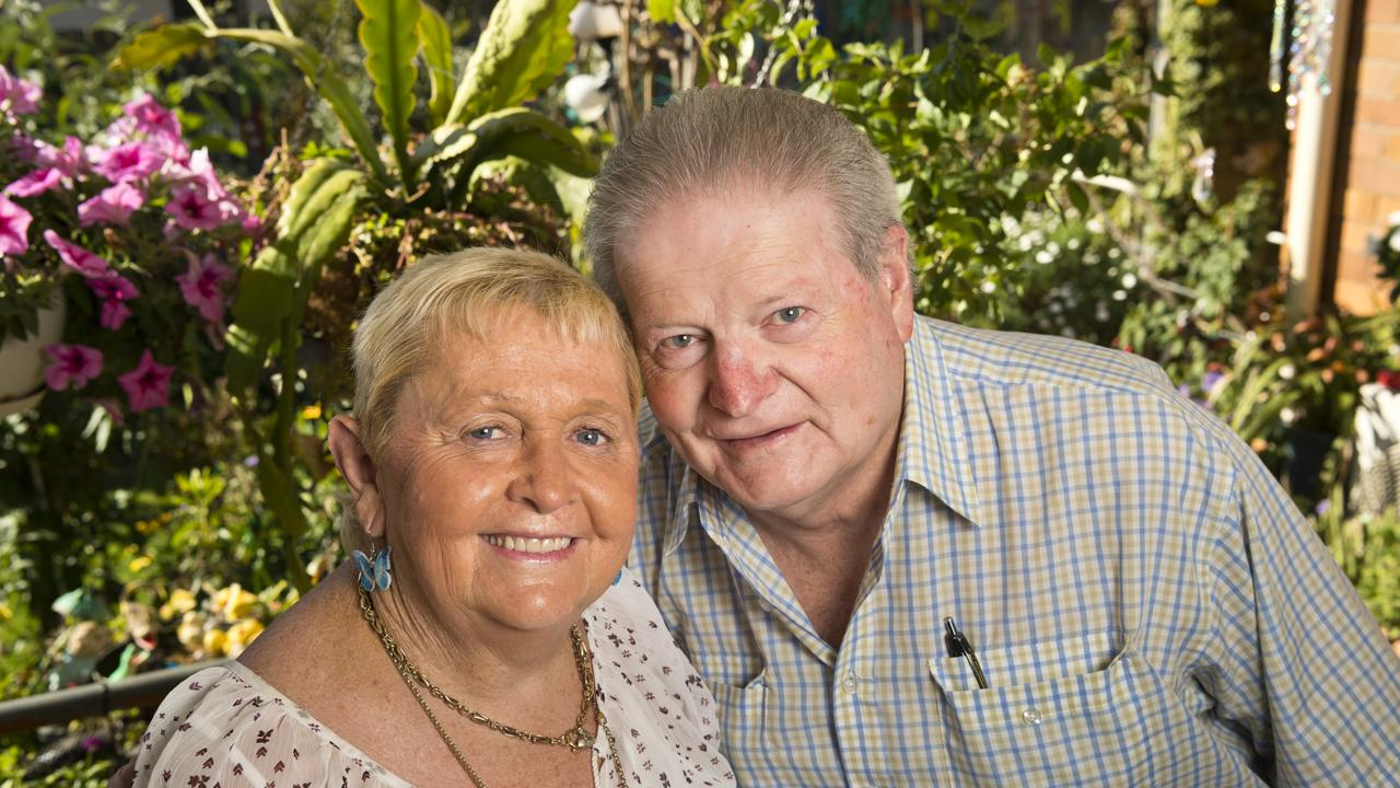 The couple, seen here in their garden, are now preparing to celebrate their 50th wedding anniversary. Picture: Kevin Farmer
