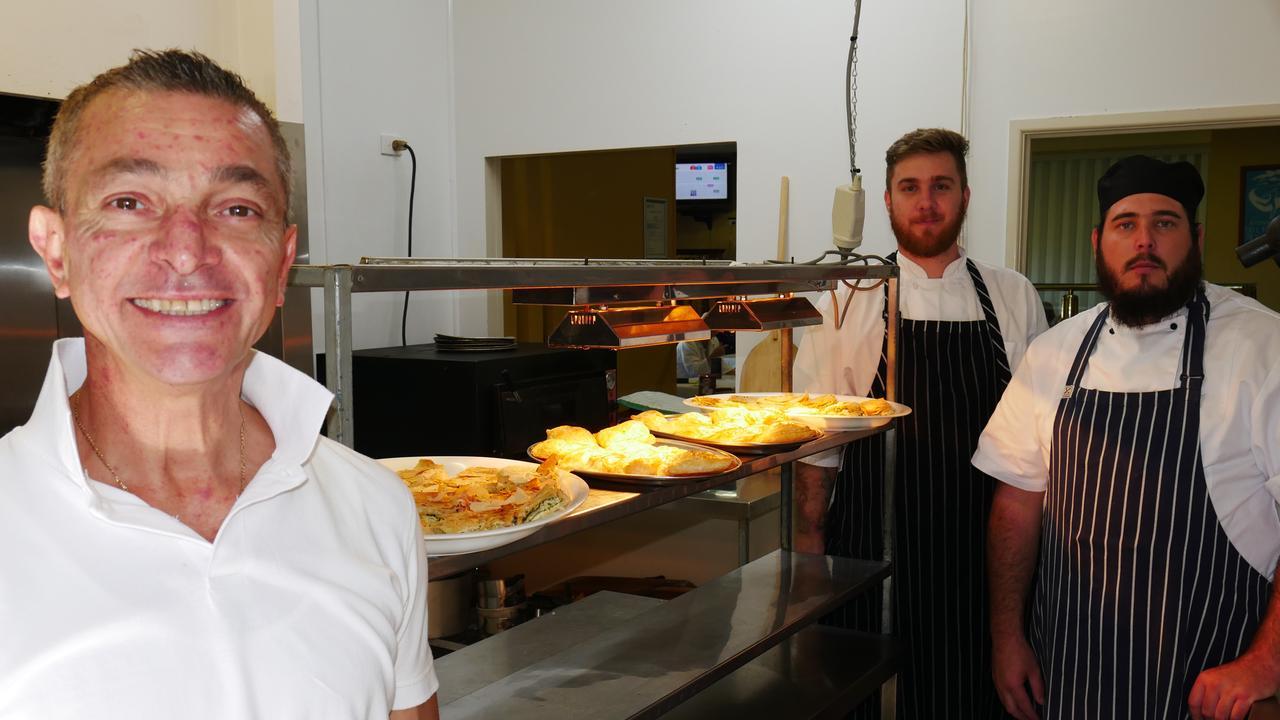 Mutfak owner Ali Zengin with chefs Jesse Steinhardt and Angus Clemson.