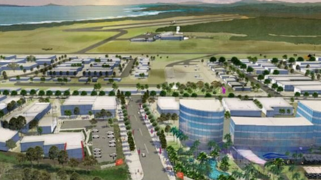 An artist's impression of the Airport Enterprise Park.