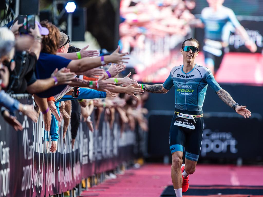 Triathlete Tim Van Berkel competing at the Ironman 70.3 Sunshine Coast which is on September 13. Picture: Korrupt Vision