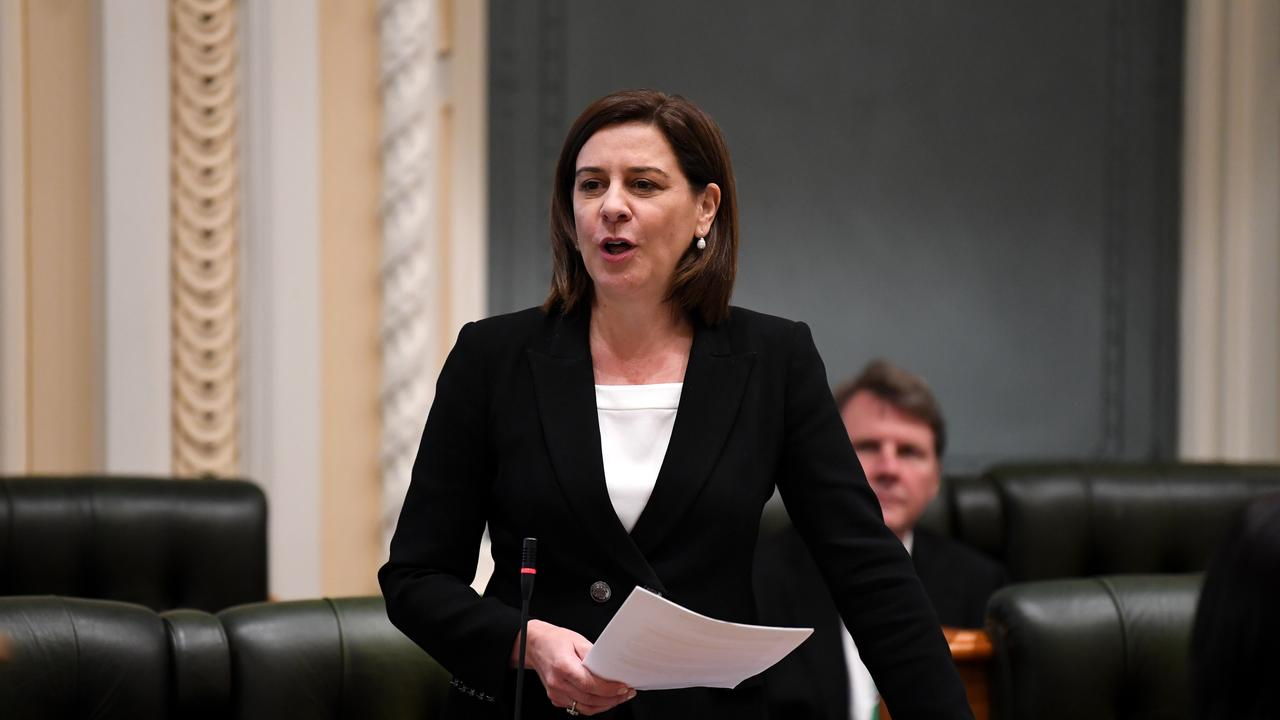 AUGUST 12, 2020. Queensland Leader of the Opposition Deb Frecklington speaks during Question Time at Parliament House in Brisbane. Picture: NCA NewsWire/Dan Peled