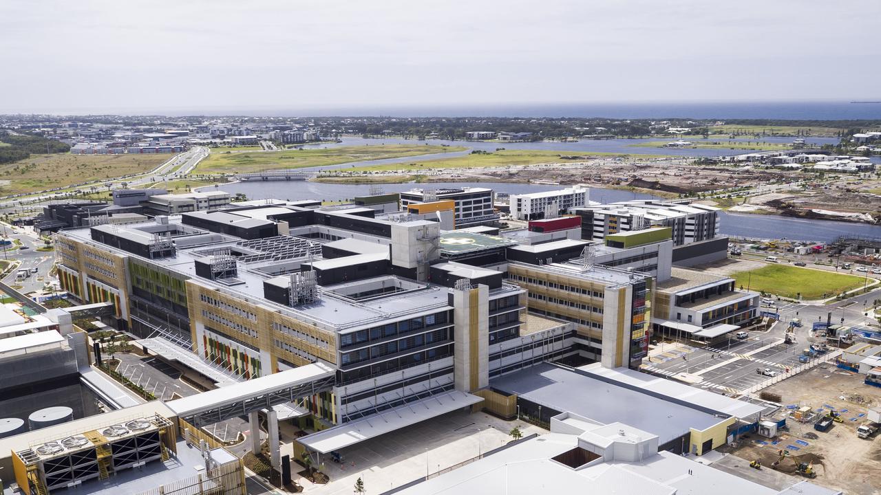 Aerial image of the Sunshine Coast University Hospital, Birtinya.