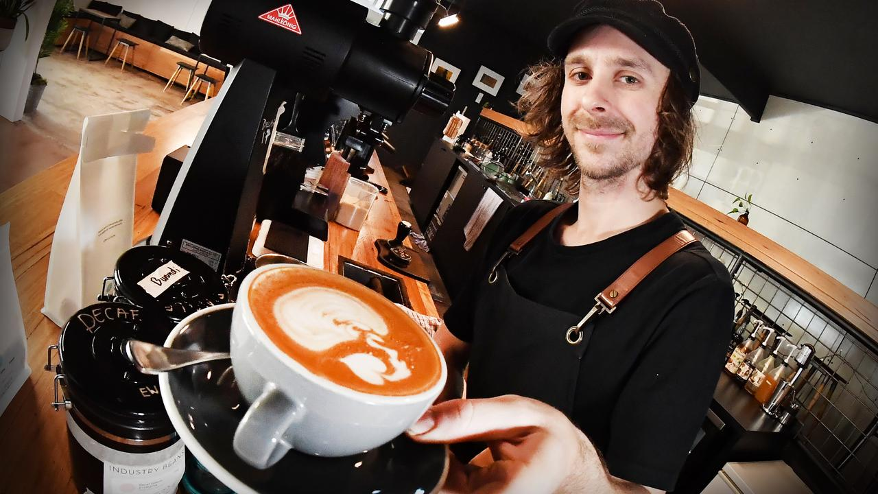 Nambour Small Change Espresso owner Jack Roffey said he is relieved after hearing 200 Sunshine Coast Council employees will stay in the Nambour chambers. Photo: Patrick Woods