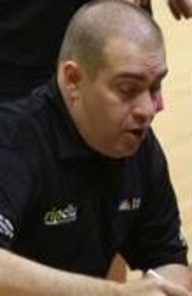 Brisbane Capitals women's coach Michael Van Dongen.