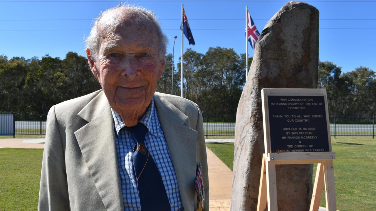 Frank McGreevy, last living WWII veteran Coolum-Peregian RSL. Photo: Lucy Rutherford