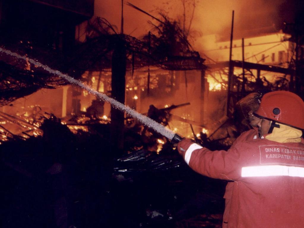 The Sari nightclub at Kuta Beach on the night of the bombing in 2002. Picture: AP
