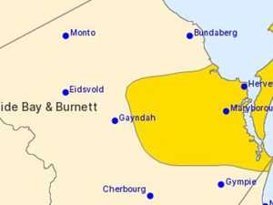 Severe thunderstorm warning issued for Wide Bay