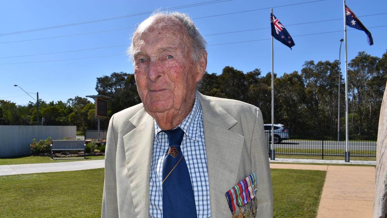 Frank McGreevyy, last living WWII veteran Coolum-Peregian RSL. Photo: Lucy Rutherford