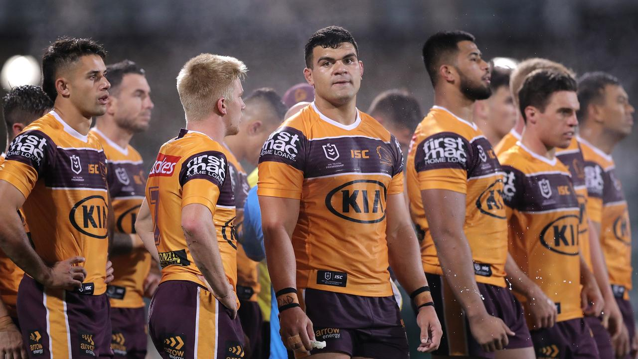 The Broncos failed to score a point against the Raiders in the second half. Picture: Getty Images