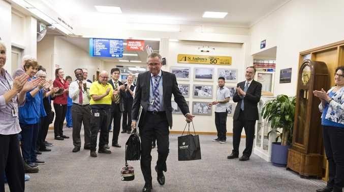 City hospital staff bid fond farewell to CEO