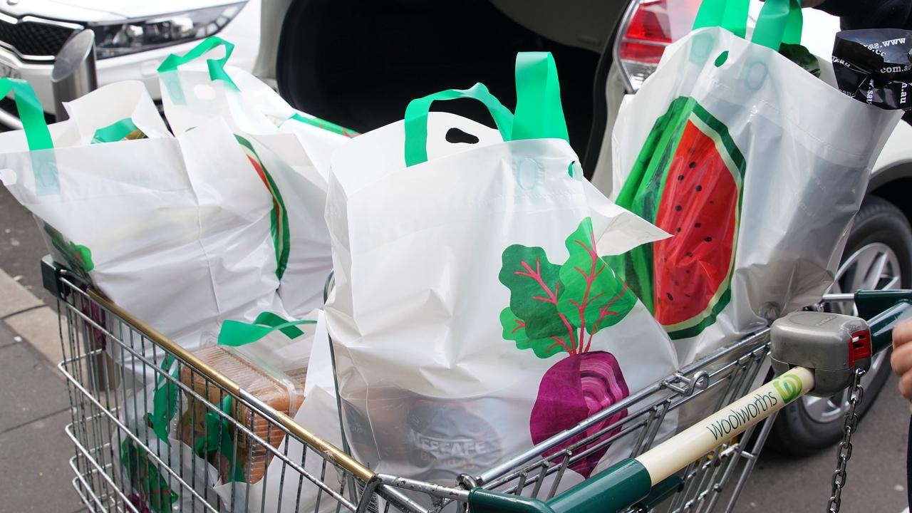 Supermarkets now only provide thicker re-usable bags. Picture: AAP Image/Ben Rushton