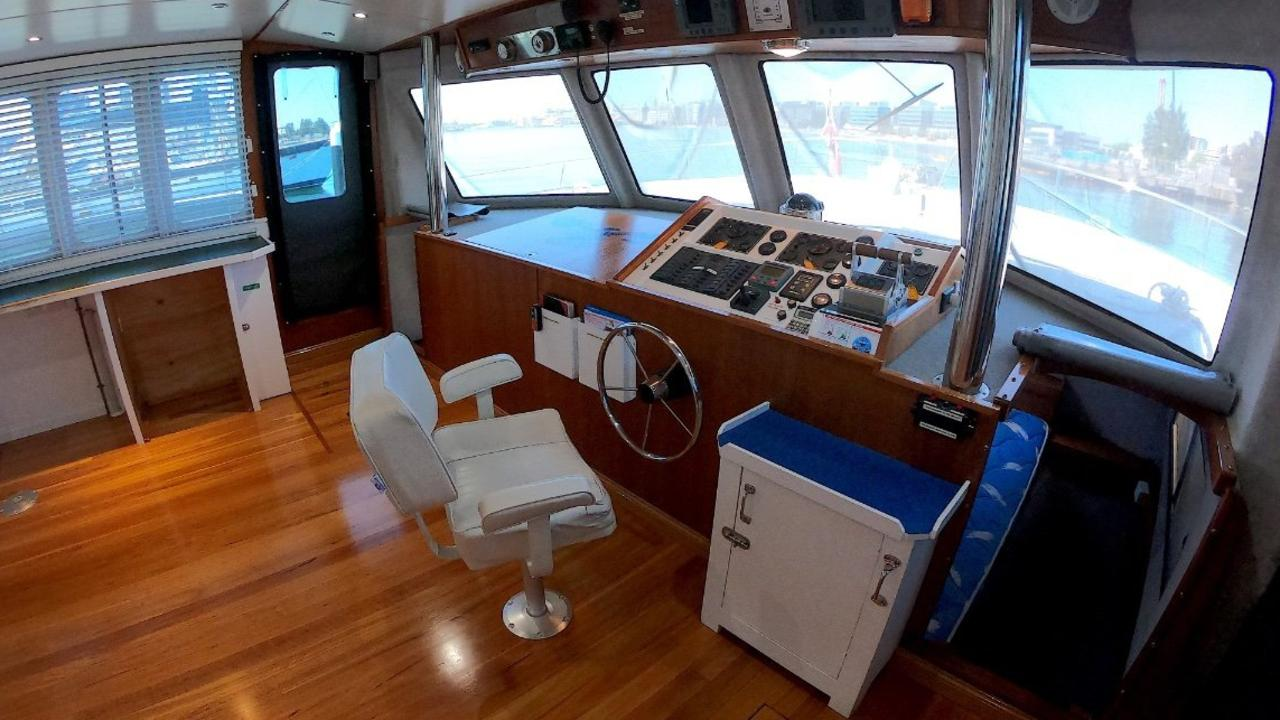 The interior of Maggie Mae the 16.4m catamaran stopped by police in a coronavirus border breach. Picture: supplied