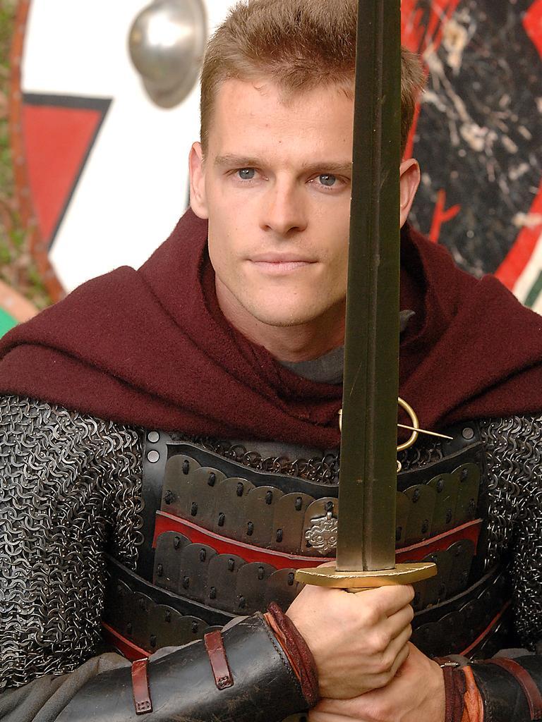 Luke Payne with sword