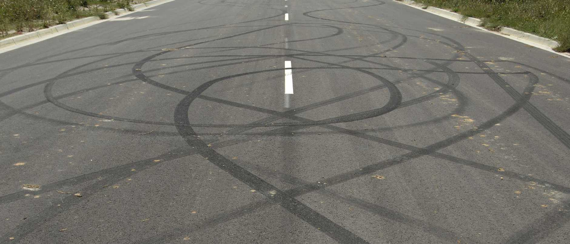 Generic images skid marks / burnouts / wheel spins / tyre marks / hoons