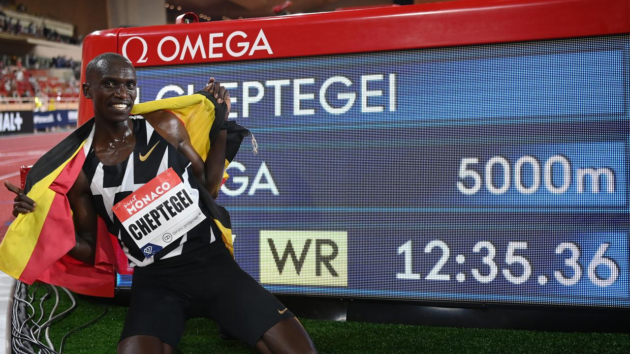 Joshua Cheptegei put in an astonishing run to destroy a world record that had stood for 16 years — after training for just a couple of months.