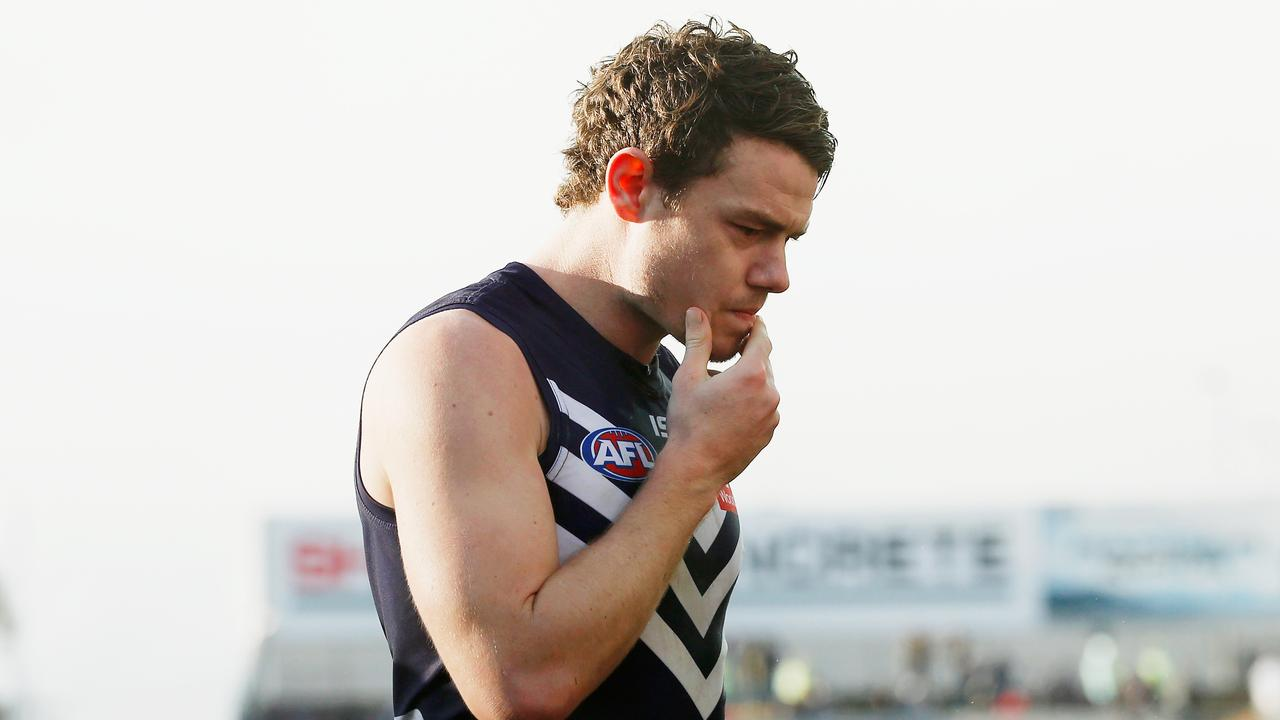 Playing for Fremantle in footy-mad Western Australia came with its challenges. Picture: Darrian Traynor/Getty Images