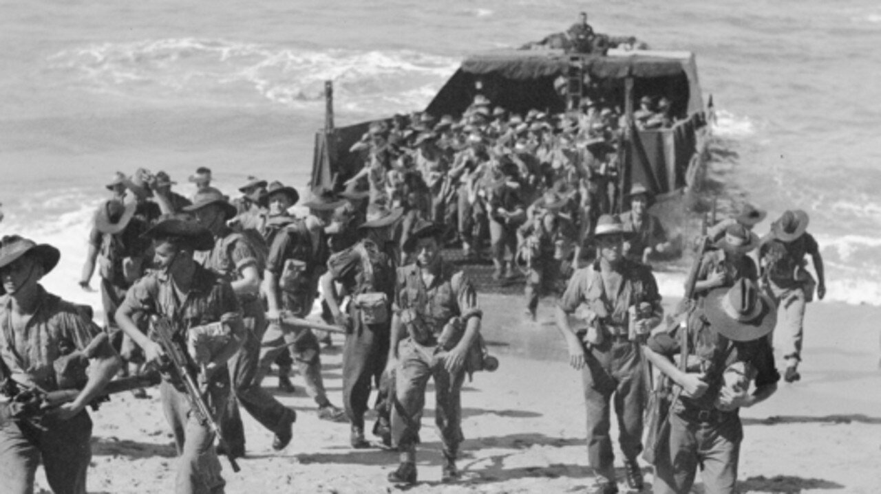 Troops from the 2/24th Battalion land at Trinity Beach during amphibious exercises