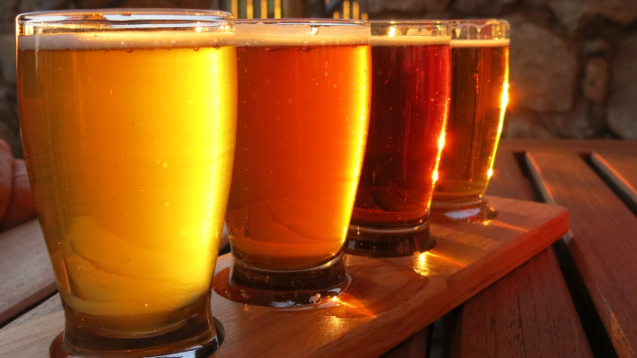 Generic craft beer paddle Photo supplied
