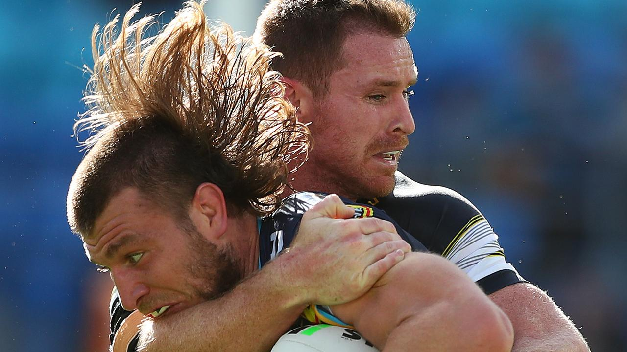 Gold Coast forward Jai Arrow – and his mullet – has been terrorising defenders all year. Picture: Chris Hyde/Getty Images