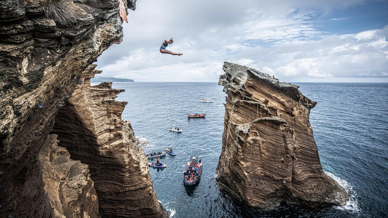 Cliff diving anyone? It's not for most people, and not for property. Picture: Romina Amato
