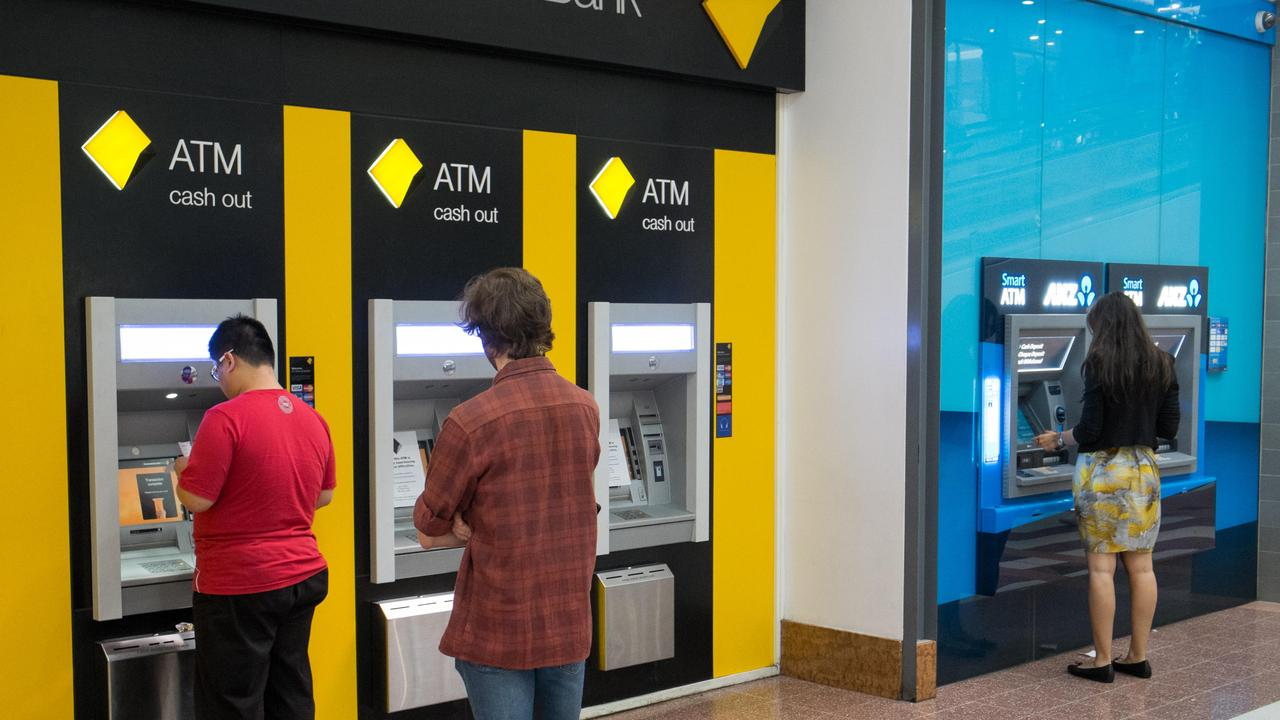 The nation's banks have ripped out thousands of ATMs and shut down hundreds of branches as the number of locations to access cash plummets. Picture: Supplied