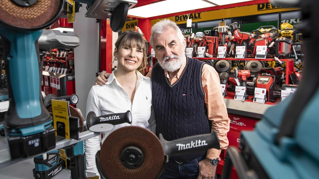 TradeTools marketing manager Rachel Ford and her father Greg Ford, the company founder.