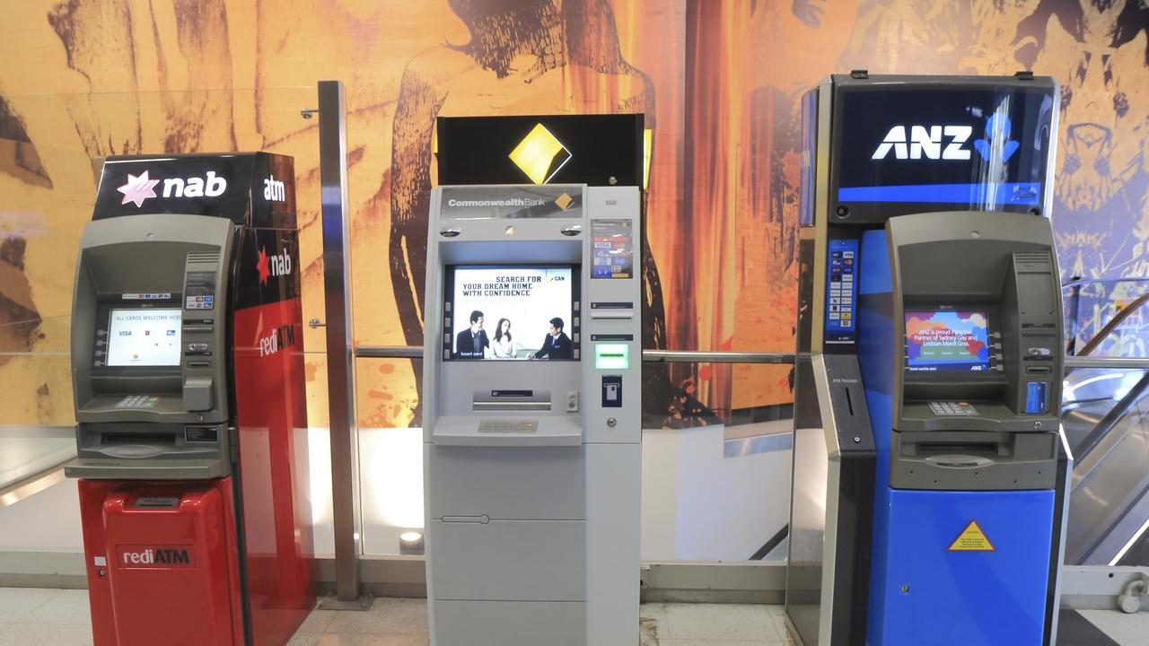 The number of ATMS and bank branches across the country has plunged in recent years. Picture: iStock